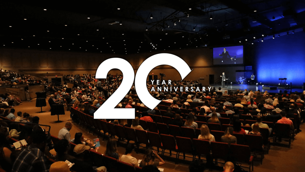 20 year anniversary of raising capital for church capital campaigns