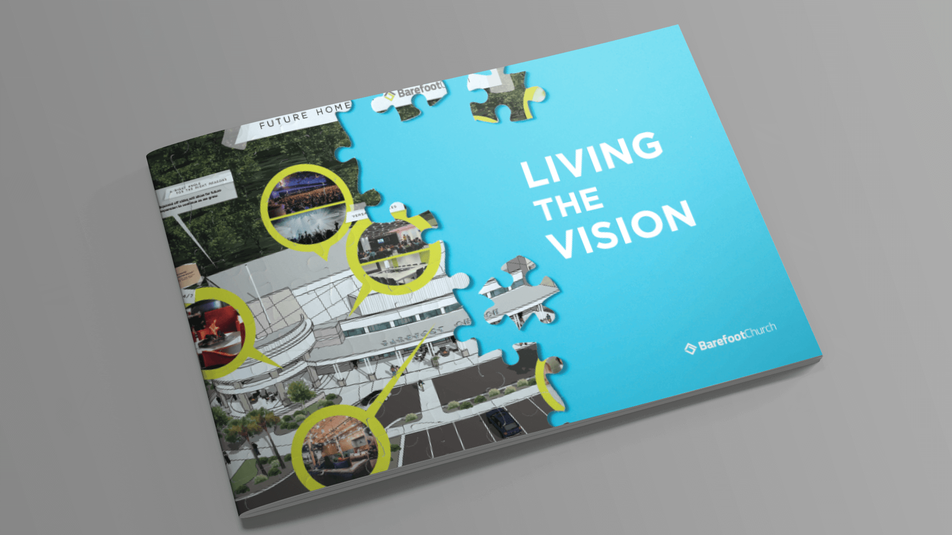 Church capital campaign brochure design