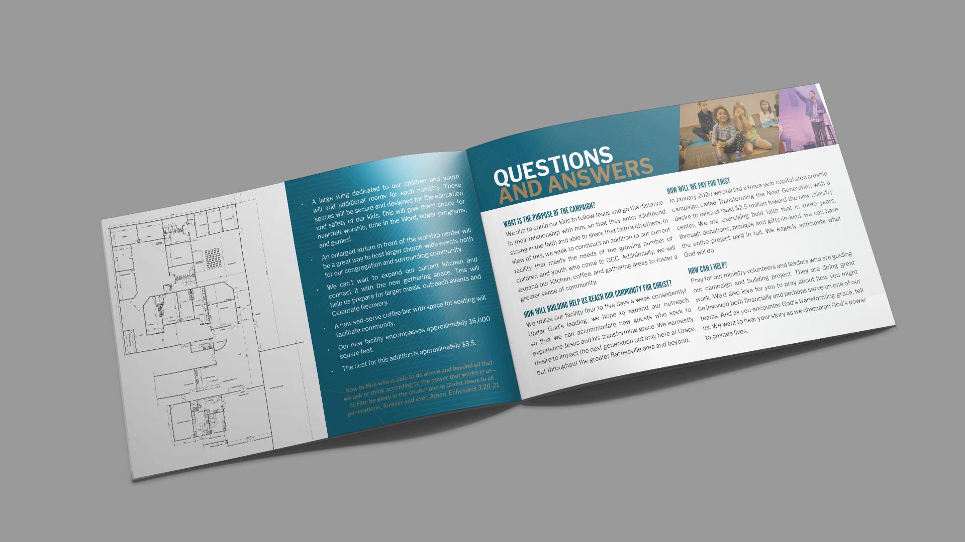 Church capital campaign booklet design