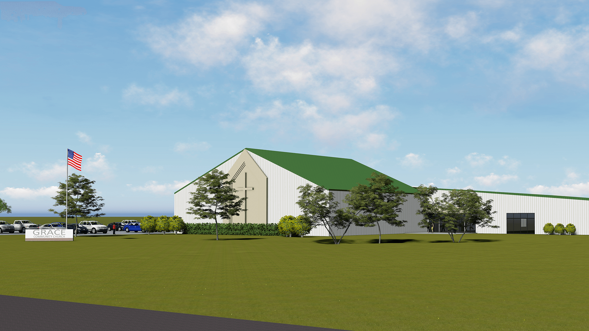Church capital campaign architect rendering