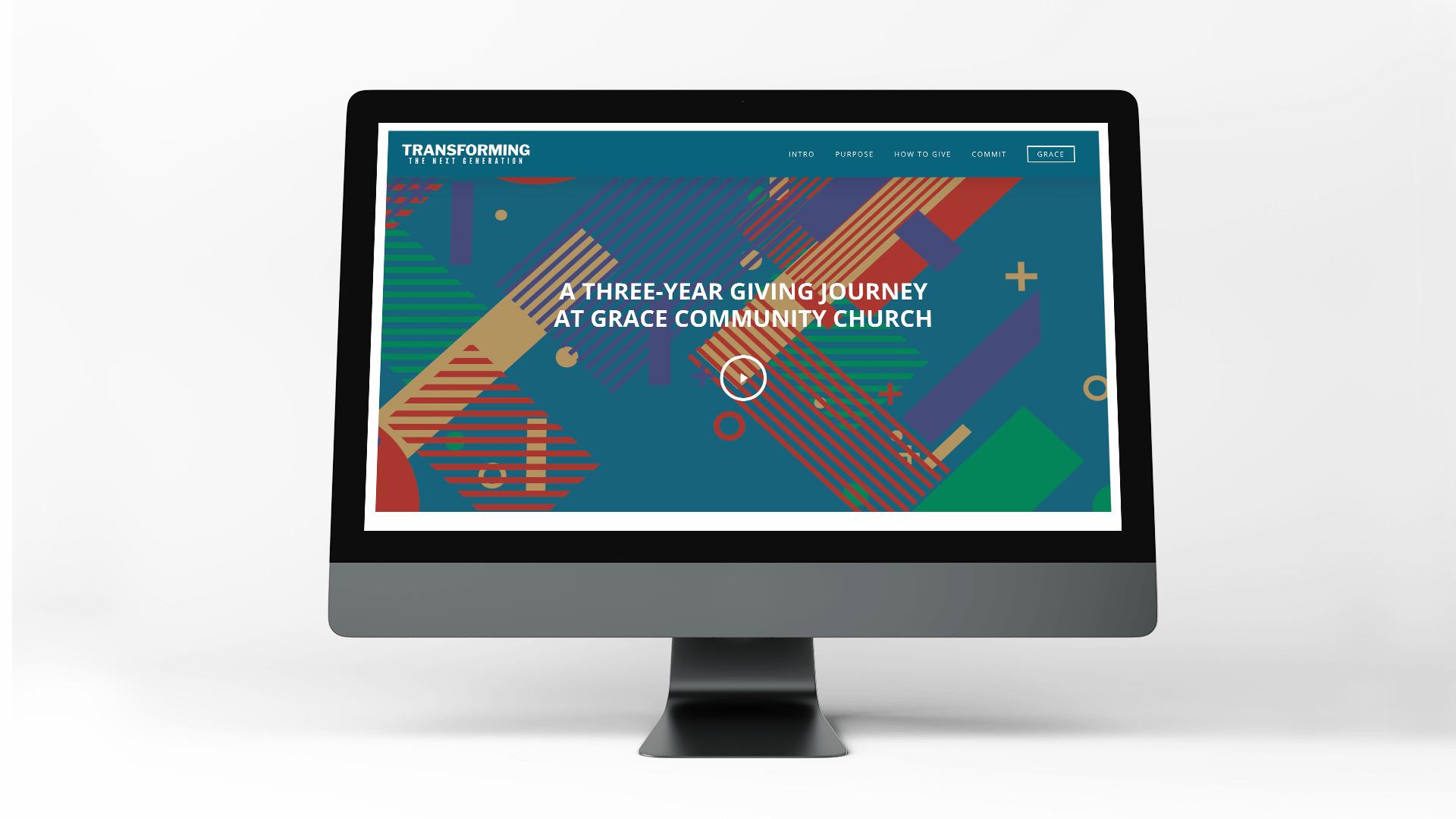 Church capital campaign website design