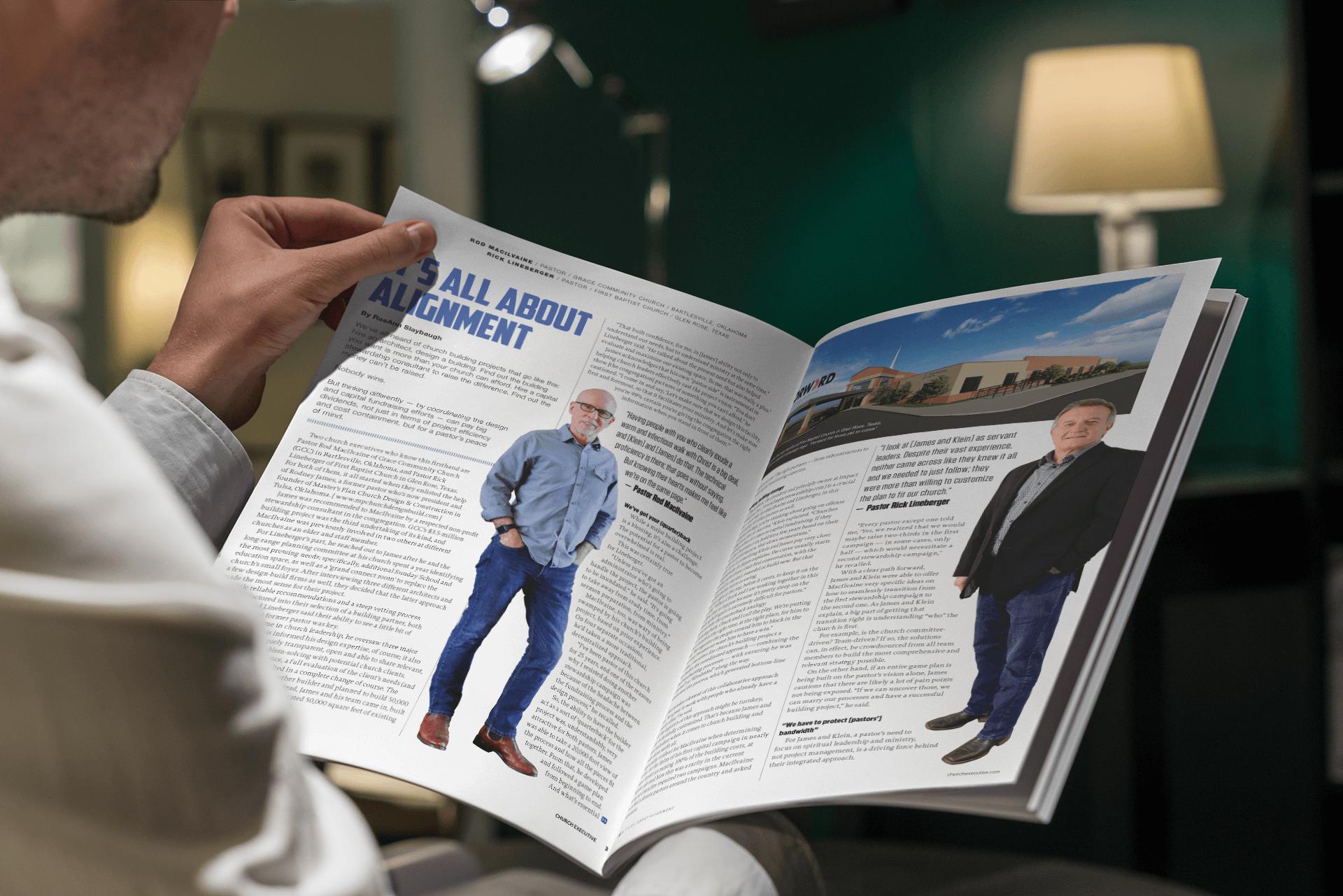 Church capital campaign magazine centerfold